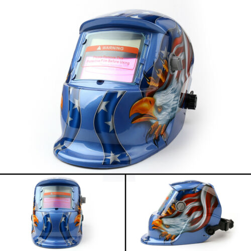 Pro Solar Powered Auto Darkening Welding Helmet Arc Tig Mig Grinding Welder USA