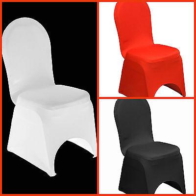 Stuhlhussen Stretch Stuhlhusse weiß rot schwarz Stuhlüberzug Universal Hochzeit