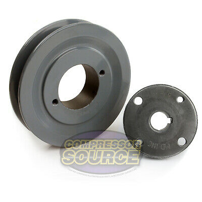 Cast Iron 4.5 Single 1 Groove Belt A Section 4l Pulley W 58 Sheave Bushing