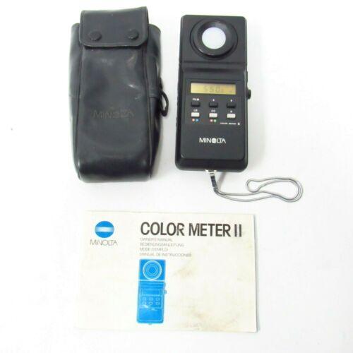 Vintage Minolta Color Meter II w/ Manual, Pouch - Works