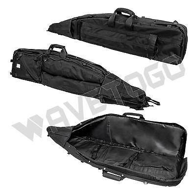 VISM NcSTAR Tactical Drag Bag Heavy Duty PVC Padded Double Rifle Gun Case Black