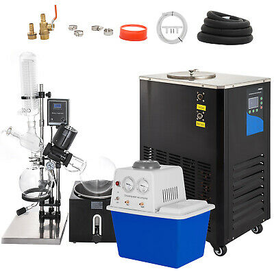 5l Rotary Evaporator Complete Turnkey Package Wwater Vacuum Pump Chiller