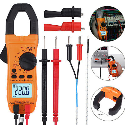 6000counts Digital Clamp Meter Multimeter Acdc Voltage Ncv Tester Auto-ranging