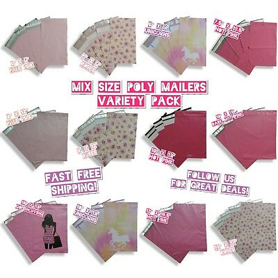 120 Mix Size Poly Mailers Variety Pack 10 Ea