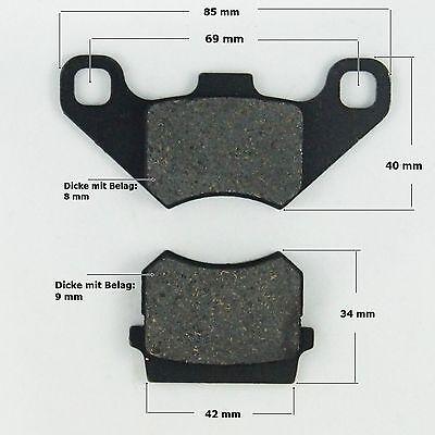 Bremsbeläge Satz ( 2 Stück) hinten Quad ATV 110/200 ccm neu (Lo.:m13a)
