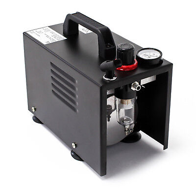 Airbrush Kompressor AF18A kompakt Manometer Druckminderer Abschaltautomatik