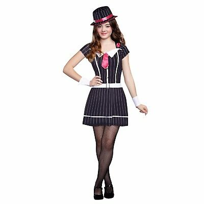 Gangster Doll Teen Girl's Halloween Costume Juniors 11-13 Large Dress Only (Halloween Gangster Girl)