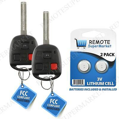 Replacement for Lexus 2003-2009 GX470 2003-2008 LX470 Remote Car Key Fob Pair 2009 Lexus Gx470 Replacement