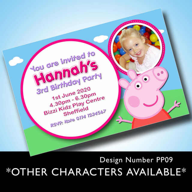 10 Personalised Birthday Party Invitations Invites Children Peppa Pig And George