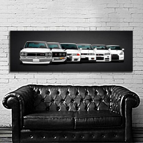 #50 Car Nissan GTR Skyline Drift Race Large Print Poster