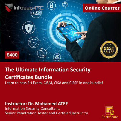 CISSP - CISA - CISM - CEH online courses + Latest exam practice (3220 questions)