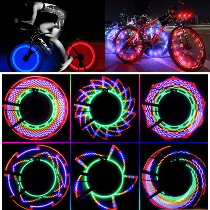 2X  LED Fahrrad Blitz Rad Licht Speichenlicht Reflektor Reifen Beleuchtung Lampe