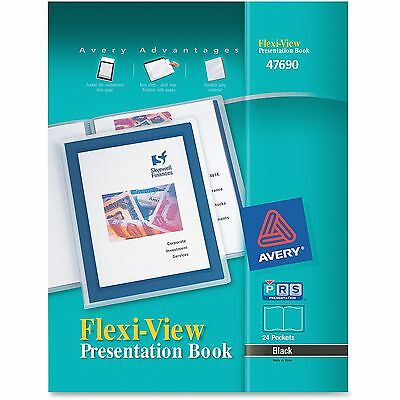 Avery Presentation Books 24 Pages 8-12x11 Black Framed Cover 47690