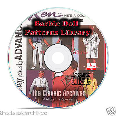 - Vintage Barbie Doll Clothes Patterns, 1000+, Sewing, Knit, Make Your Own CD B71