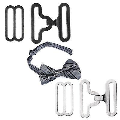 50x Regle Bow Tie Lavalliere Clip pour Cravat Krawattenhaken Metall ()