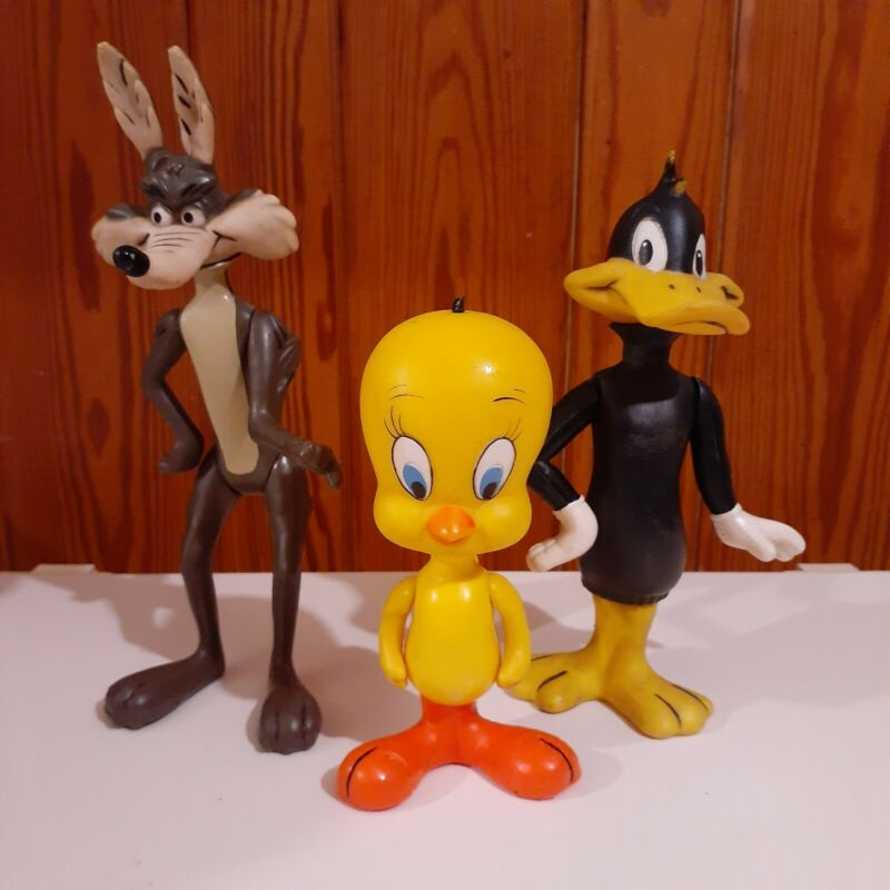 1976 DAKIN Looney Tunes TV Cartoon Theater DAFFY DUCK / WILE E. COYOTE / TWEETY