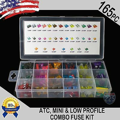 - New 165pc ATC / MINI / Low Profile Mini Blade Fuse Assortment Auto Car FUSES Kit