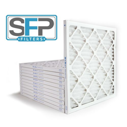 20x20x1 Merv 13 Pleated AC Furnace Filters. Case of 12  Captures airborne virus!