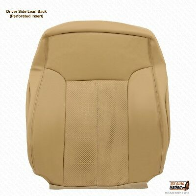 2013 2014 Ford F350 Lariat Driver Lean Back Seat Cover Perforated Leather Tan