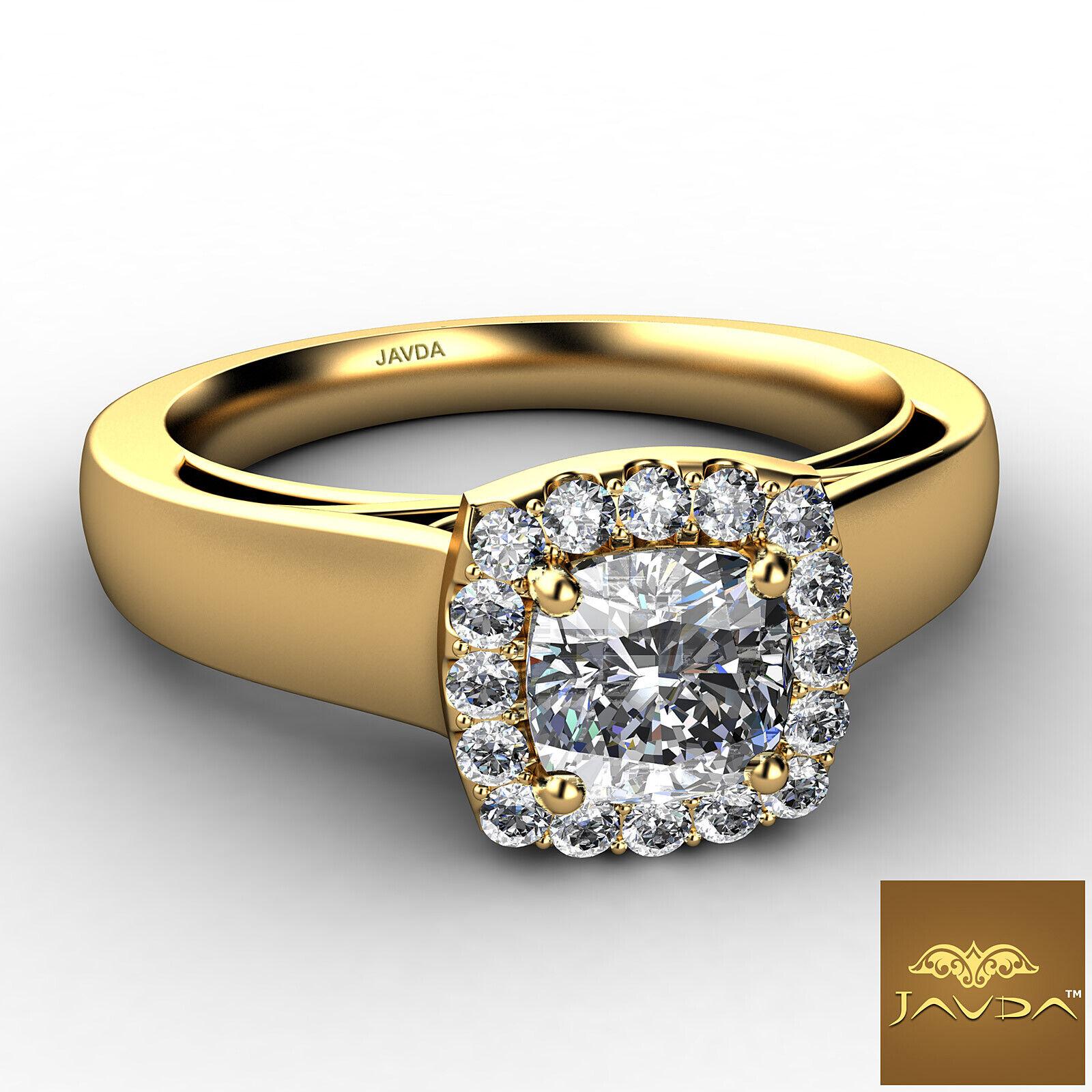 Filigree Shank U Cut Prong Cushion Diamond Engagement GIA H Color VS1 Ring 0.7Ct 5