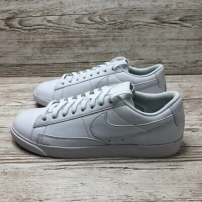 W NIKE BLAZER LOW LEATHER TRIPLE WHITE SIZE UK 9 US WMNS 11.5 EUR 44 AA3961 104