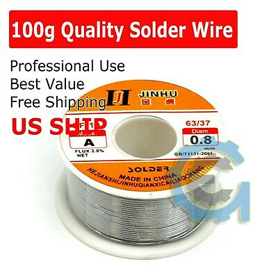 100g 60-40 Tin Lead Rosin Core Solder Wire Soldering Sn60 Pb40 Flux .0391.0mm