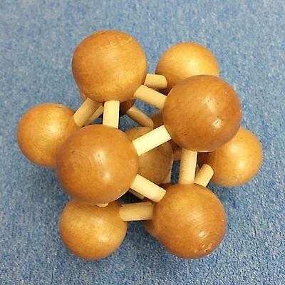 3D Wooden Puzzle Brain Twister Teaser  Atomic Structure  Clever Contest Gift