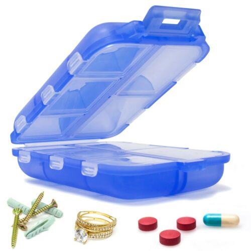 Miami CarryOn Travel Pill Box, Portable 10 Slot Screw / Jewelry / Pill Organizer