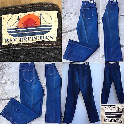 """Vintage Bay Britches Jeans High Waist Sz 15/16 (30"""" Waist) 80s 1980s"""