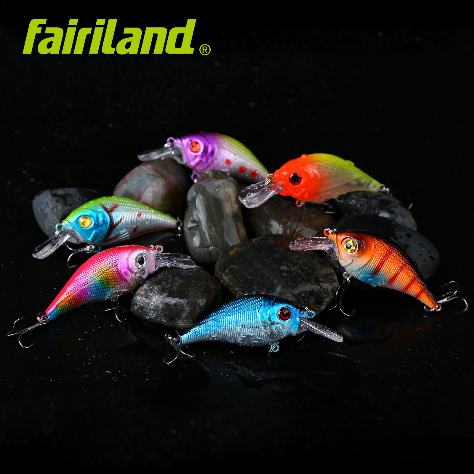 "1pcs 6cm//2.4/"" 11g//0.39oz 3D eyes minnow hard lure Fresh//Saltwater fishing bait"
