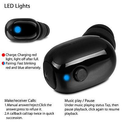 Bluetooth 4.1 Wireless Waterproof Stereo Earphone Earbud Sport Headset Headphone