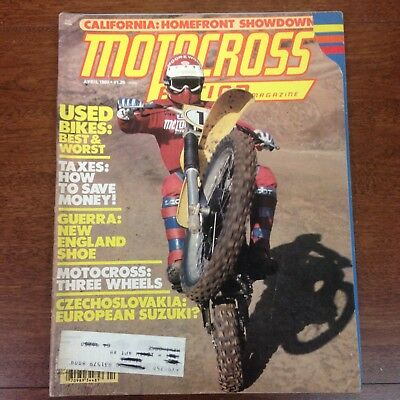 MOTOCROSS ACTION APRIL 1980 RM250 SIDECAR WINTER SERIES BEST & WORST USED