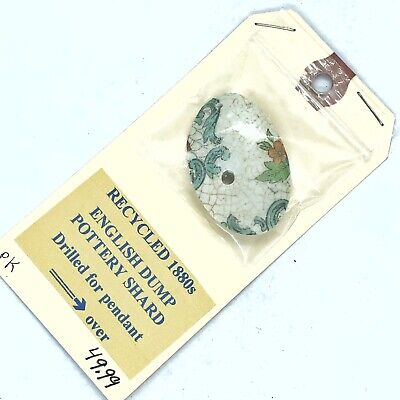 Antique Pendant Made From Artifact Fragment Found In 1880's English Dump Old