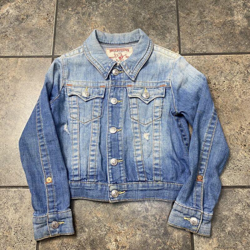Girls/Kids True Religion Emily Jacket Denim Jean Jacket Size Small