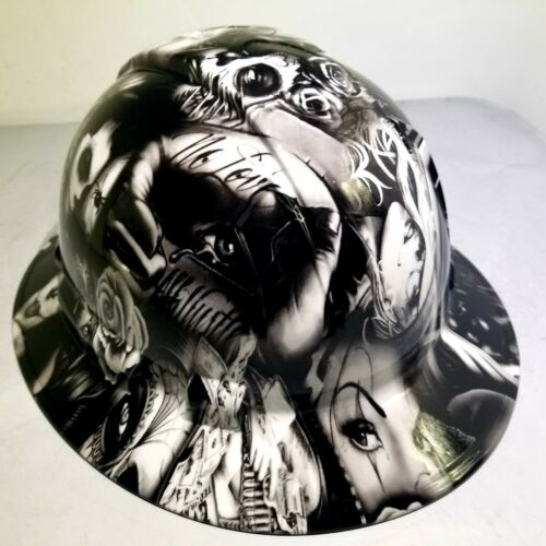 Hard Hat FULL BRIM custom hydro dipped , OSHA approved TEQUILA SHOOTER NEW 3