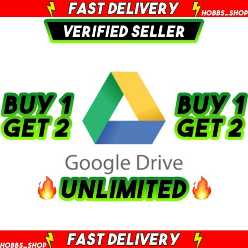 Google Drive UNLIMITED For Your Account BUY 1 DRIVE GET 2 ( LIFETIME ) ✅Premium