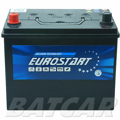 Autobatterie EUROSTART 12V 70Ah 560A/EN +Links Japan