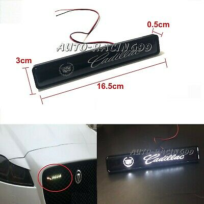 Cadillac Logo LED Light Car For Front Grille Bumper Luminescent Decal Sticker