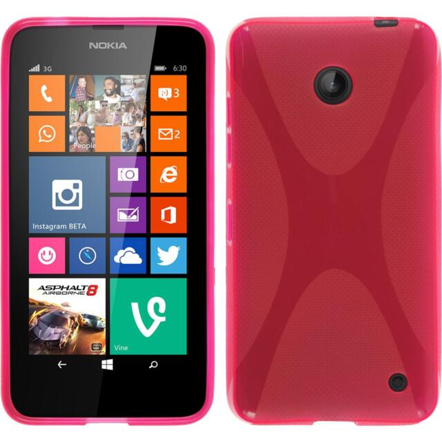 Silicone Case for Nokia Lumia 630 X-Style hot pink + protective foils