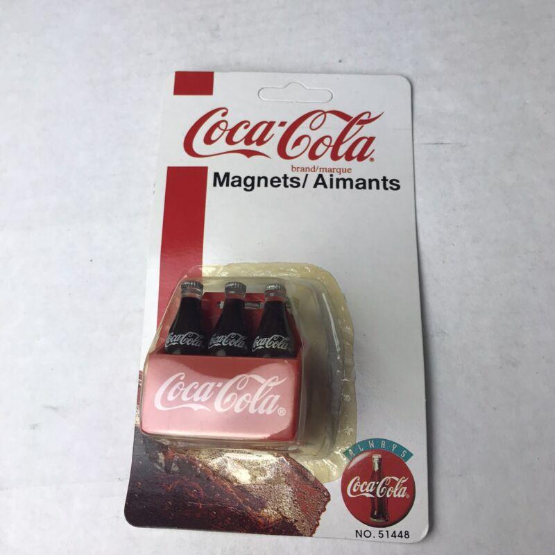 Coke Magnet 6 Pack Bottles Coca Cola 51448 Sealed Vintage 1995 New