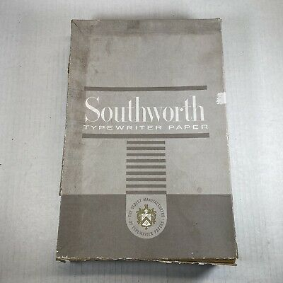 Southworth Paper Racerase 411d Plain Cockle Finish 8 12 X 13 Typewriter Paper