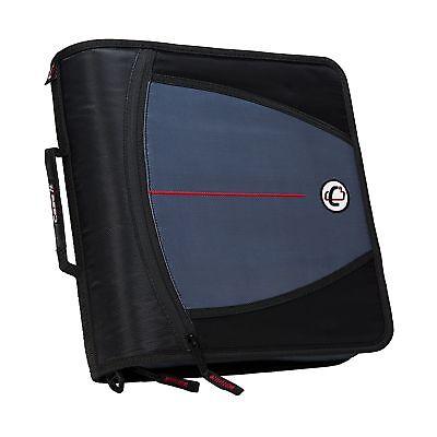 Case-it Mighty Zip Tab 3-inch Zipper Binder Black D-146-blk Single