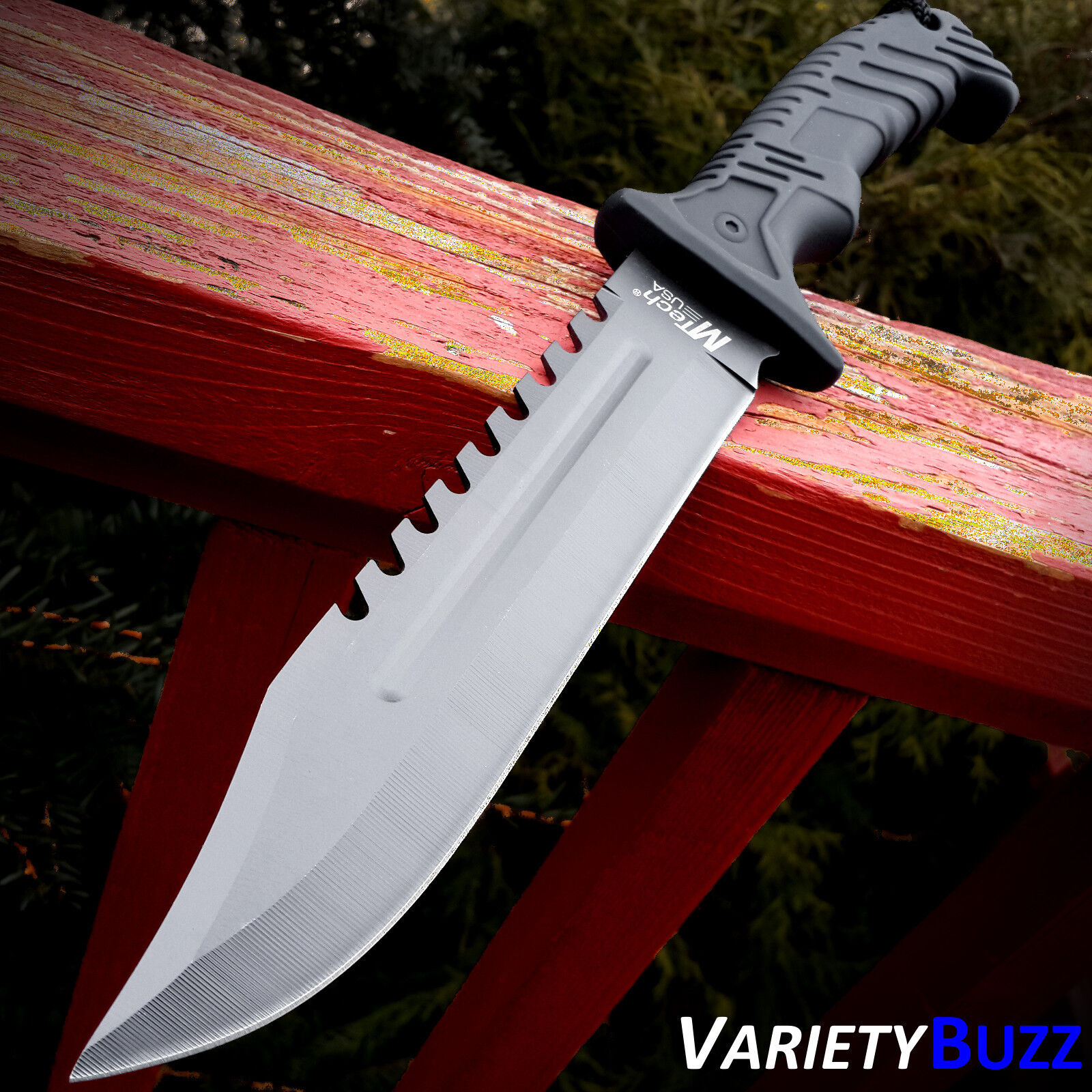 "13"" BLACK TACTICAL SURVIVAL Rambo Hunting FIXED BLADE KNIFE"