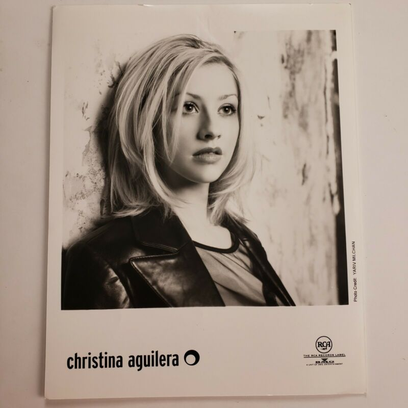 Christina Aguilera Vintage Promo Photo B&W Press Kit For Signing Autographs