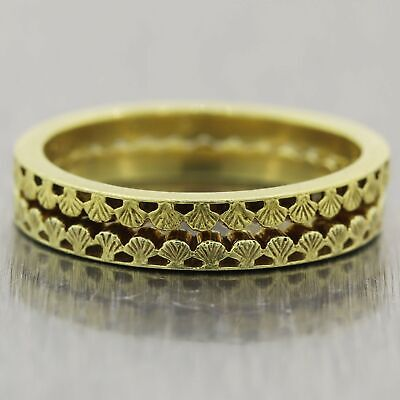 Hidalgo 18k Yellow Gold Band Ring Set