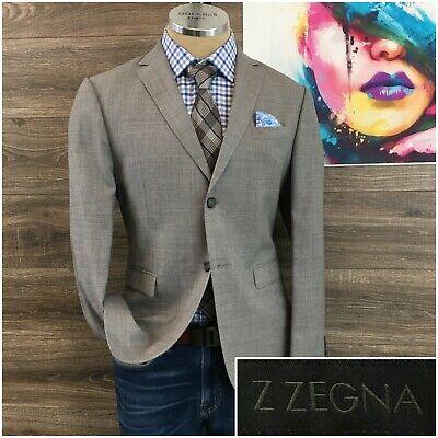 Z Zegna Mens Sport Coat Blazer Wool 2 Button Sport Jacket Size 38S Drop 7 Deco