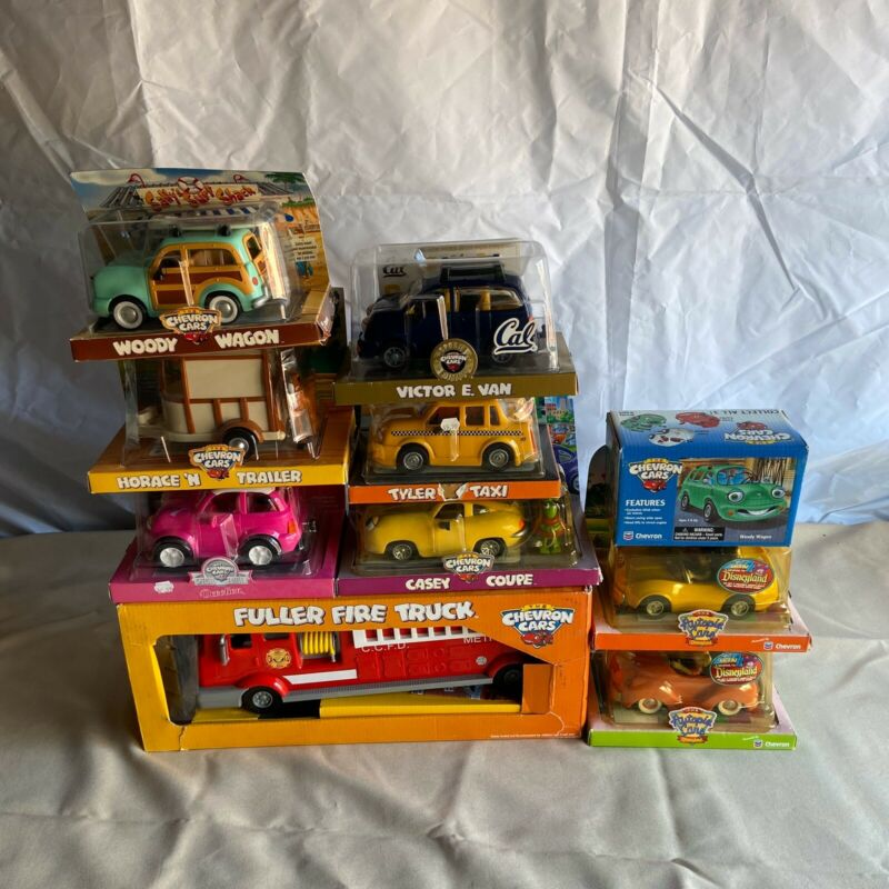 The Chevron Cars & Autopia Disneyland Collectable Toy Vehicles LOT of 10