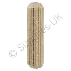 10mm x 40mm wooden dowel pins hardwood fluted grooved for Y h furniture trading