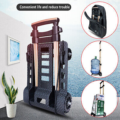 Folding Hand Truck Durable Heavy Duty Utility Cart Easy To Storage Black 4 Types