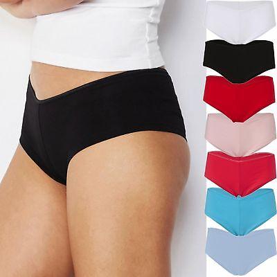 Damen Unterhose Bella+Canvas Dessous Slip Stretch Shortie Hüfthoher Bund 0491 - Bella Damen-unterwäsche